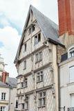 Fassade von alten Adams Haus verärgert herein, Frankreich Stockfotos