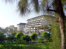 Fassade von Arancia Hotel lizenzfreie stockfotos