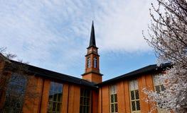 Fassade von Baptist Church lizenzfreies stockfoto