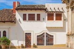 Fassade von bunten Häusern im historischen Bezirk Granada in Ni Lizenzfreie Stockfotos