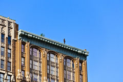 Fassade von Gebäuden mit Eisenmann Lizenzfreie Stockbilder