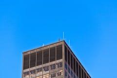Fassade von Gebäuden mit Eisenmann Lizenzfreie Stockfotografie