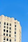 Fassade von Gebäuden mit Eisenmann Lizenzfreies Stockbild