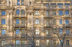 Fassade von Häusern vom späten 18. Lizenzfreies Stockfoto