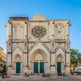 Fassade von Heiliges Roch-Kirche in Montpellier Stockfoto