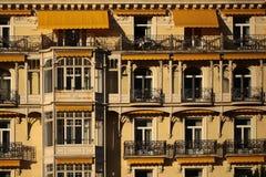 Fassade von Montreux Palace-Hotel Stockfotografie