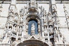 Fassade von Mosteiro DOS Jeronimos, Belem, Portugal lizenzfreie stockbilder