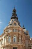 Fassade von Rathaus von Cartagena, Spanien Stockfoto