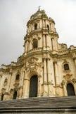 Fassade von San Giorgio Cathedral in Modica lizenzfreie stockfotos