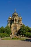 Fassade von St. Nicholas Naval Cathedral in Karosta Stockfotos