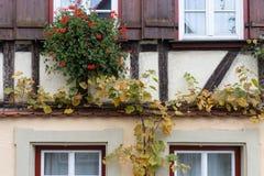 Fassaden Architektur und Fenster von Rahmengebäuden Lizenzfreies Stockbild