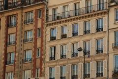 Fassaden der alten Häuser Lizenzfreies Stockbild