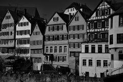 Fassaden-Stadtbild von Tubingen Schwarzwald Deutschland lizenzfreie stockfotografie