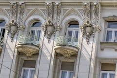 Fassaden von Belgrad - ehemaliges russisches Zar-Restaurant, das De errichtet Lizenzfreie Stockbilder