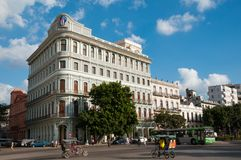 Fassaden von ein klassischen Havana-Gebäuden kuba stockfotografie