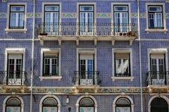 Fassaden von Lissabon stockfotos
