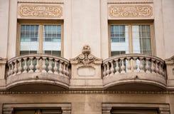 Fassadendetail. Barcelona, Spanien. stockbilder