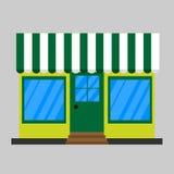 Fassadenspeicher mit einem Schild Lizenzfreies Stockbild