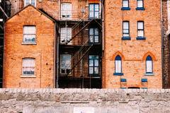 Fassadenziegelstein, süßes Haus, Europa, London, England stockfotografie