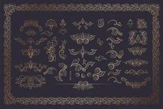 Fassbinder Color Flourishes Collection auf dunklem Hintergrund vektor abbildung