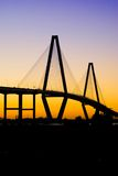 Fassbinder-Fluss-Brücke (Sonnenuntergang) Stockbild