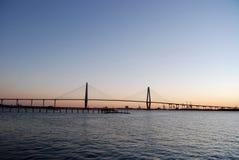 Fassbinder River Bridge Sunset 2 stockbild