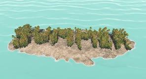 Fassen Sie den Sommer ab, der von den Palmen erstellt wird Stockbild