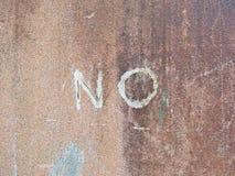 Fassen Sie KEIN geschrieben auf die alte Wand ab Stockbilder