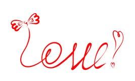 Fassen Sie Liebe mit einem würdevollen Bogen und Ausrufezeichen von den Herzen ab Stockfotos