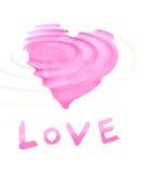 Fassen Sie '' Liebe '' mit stilisiert Liebessymbol ab Stockbilder