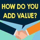 Fassen Sie Schreibenstext ab, wie Sie Wert-Frage addieren Geschäftskonzept für Arbeitsübernahmeproduktionsverfahren gerade verbes vektor abbildung