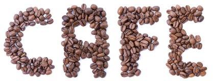 Fassen Sie vom Bohnenkaffee ab Stockfoto