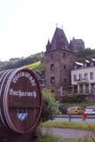 Fassmarkierung und Turm von Bacharach Lizenzfreie Stockfotos