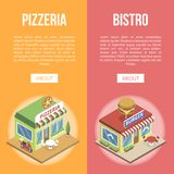 Fastów food budynki royalty ilustracja