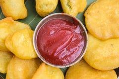 Fastów food ind: Pakoda Zdjęcie Royalty Free