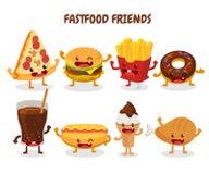 Fastów food przyjaciele grafiki bąbla psa używać fasta food gradientów hamburgeru gorące warstwy ustalony kanapka żadny tekst uży Obraz Stock