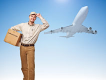 Fast air delivery Royalty Free Stock Photo