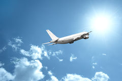 Fast airplane stock photo