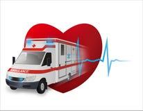 Fast Ambulance stock illustration