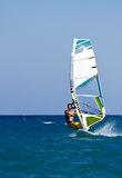 Fast approaching windsurfer Royalty Free Stock Photo