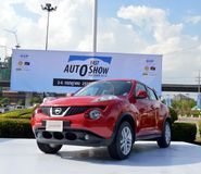 Fast Auto Show2014 BANGKOK, THAILAND- July 4,2014 A Nissan Juke show , Bitec Convention Hall Bangna Royalty Free Stock Photography