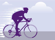 Fast Bicyclist vector Stock Image