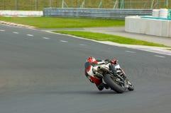 Fast biker. Riders training at the Hungaroring circuit Stock Photography