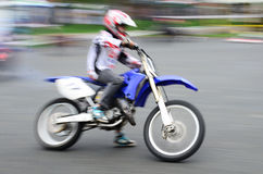Fast biker Stock Photo