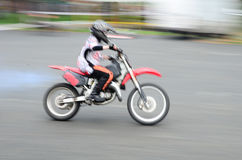 Fast biker Royalty Free Stock Photo