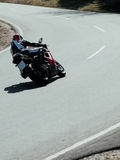 Fast Biker in Left-Curve Royalty Free Stock Photos