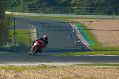 Fast biker. Riders training at the Hungaroring circuit against other bikers Stock Photography