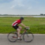 Fast biker Stock Image