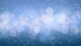 Fast Blue Blizzard Snow Storm Gale Force Extreme Weather Motion Blur Strong Side Wind Seamless. Looped 3d Animation stock video
