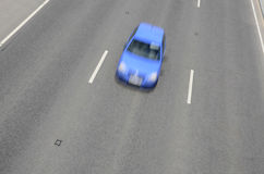 Fast blue car Royalty Free Stock Photography